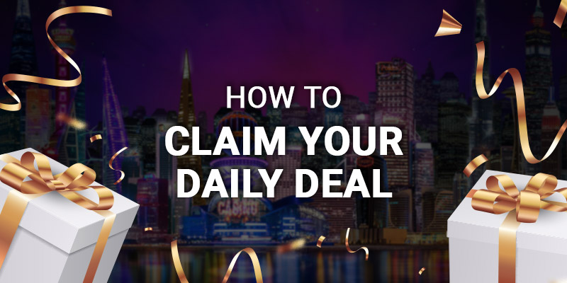 How to claim the Daily Deal at JackpotCity Casino