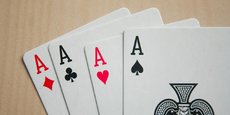 A set of aces cards