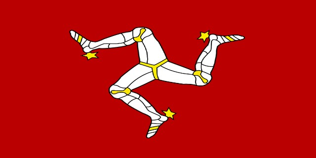The flag of the isle of man.
