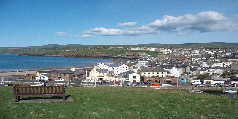 A view of a town in the Isle of Man