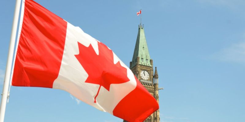 The Canadian flag flapping in front of a clocktower; JackpotCity Casino Blog