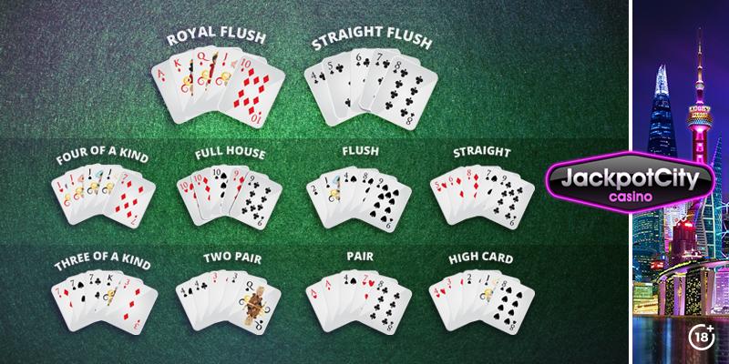 Alt: Poker Hand Ranking Übersicht | JackpotCity Online Casino