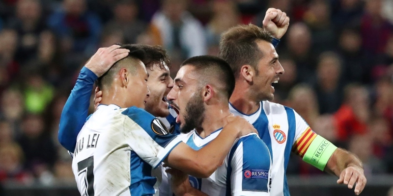 Espanyol players celebrating