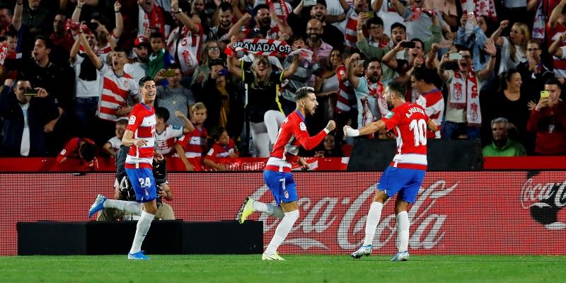 Granada players celebrating