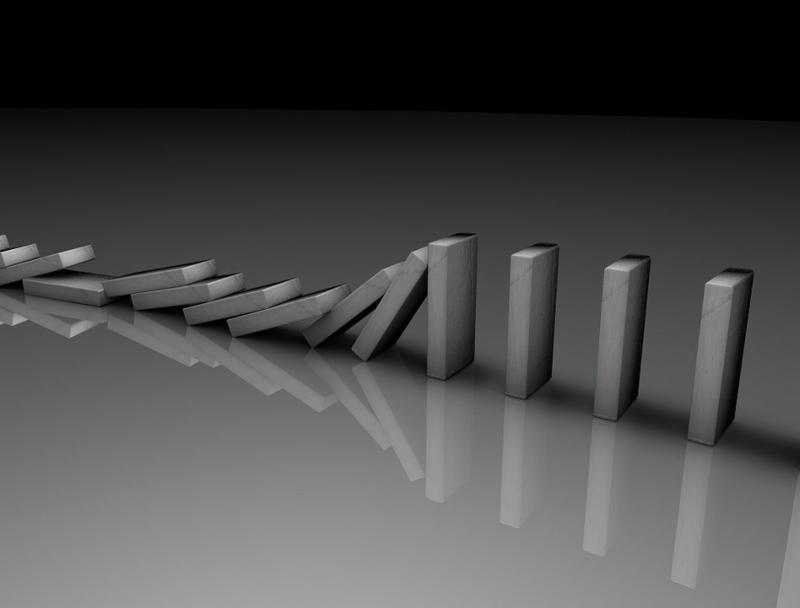Fallende Dominosteine