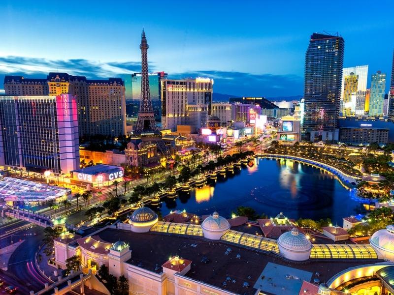 Las Vegas om natten