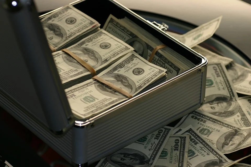 A suitcase of money.