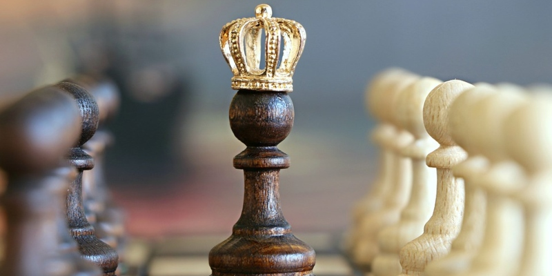 A chess piece in a chess tournament