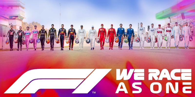 Formula One launches #WeRaceAsOne initiative to fight challenges of COVID-19 and global inequality.