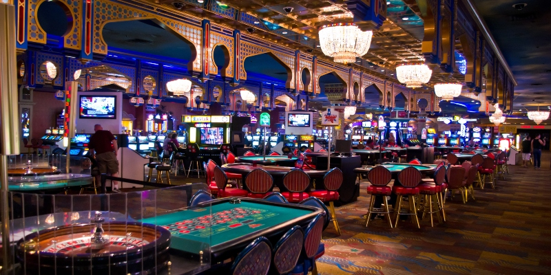 Roulette tables at casino in Las Vegas
