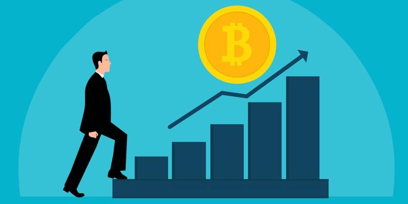 Gráfico figurativo sobre o crescimento do Bitcoin