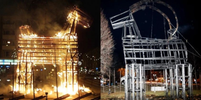A Gävle Goat in flames and after; Spin Casino Blog
