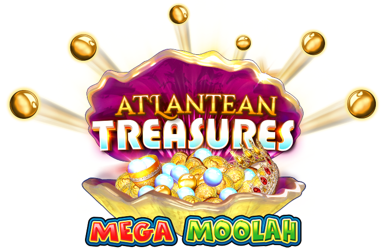 Atlantean Treasures Mega Moolah logo; Spin Palace Blog