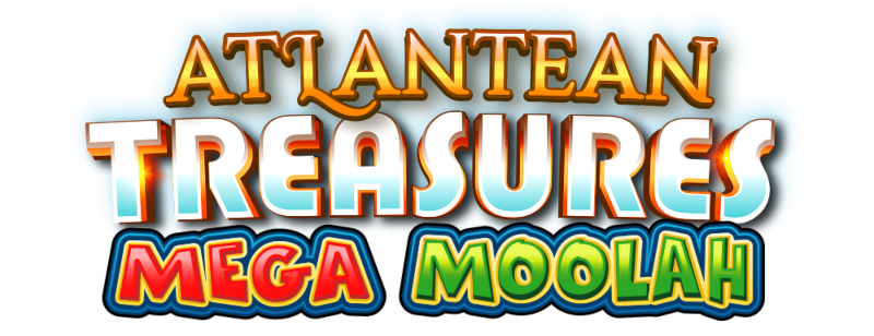 Atlantean Treasures Mega Moolah logotipo; Spin Palace Blogue