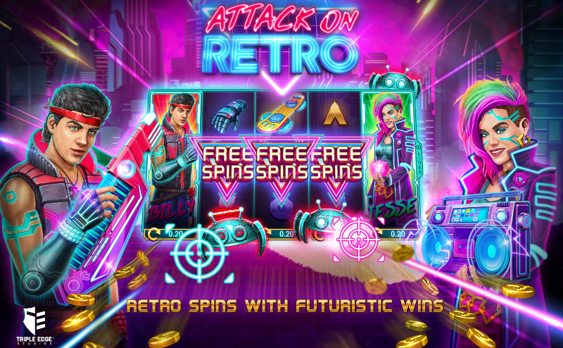 Attack on Retro Free Spins Gameplay; Spin Palace Blog