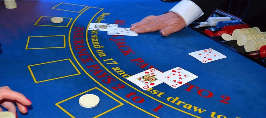 Blackjack game in action