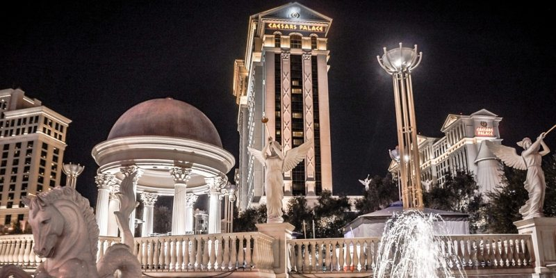 A fountain in front of Caesar's Palace casino in Las Vegas; Spin Casino Blog