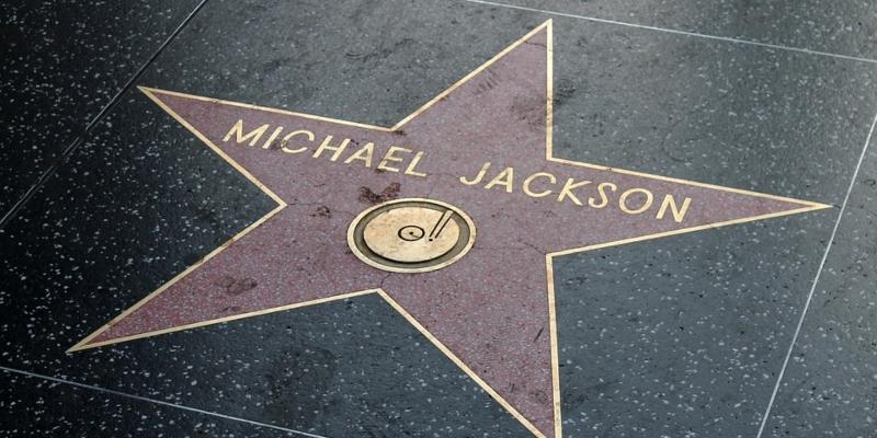 Der Stern von Michael Jackson auf dem Walk of Fame in Hollywood; Spin Palace Blog
