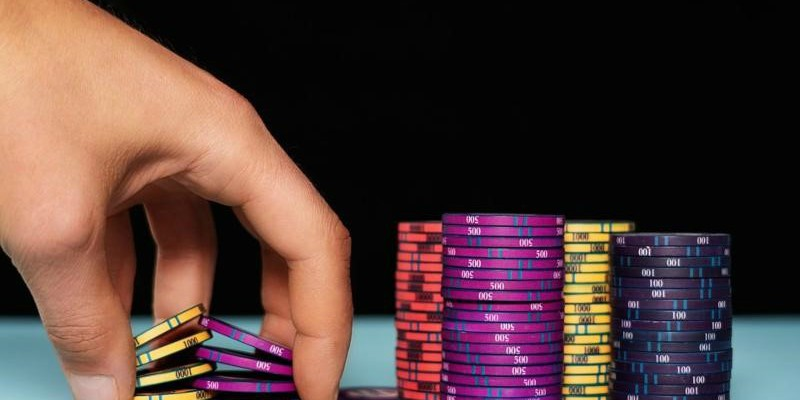 A winning Poker hand fanned out in sequence.