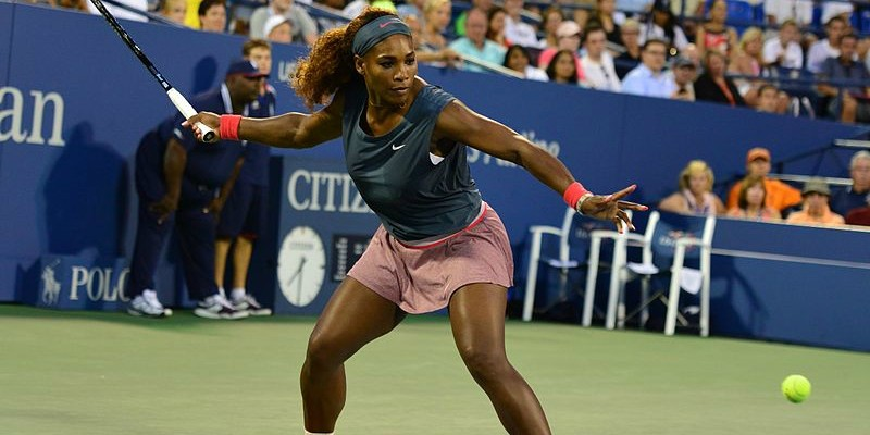 frappe par Serena Williams à l'US Open 2013