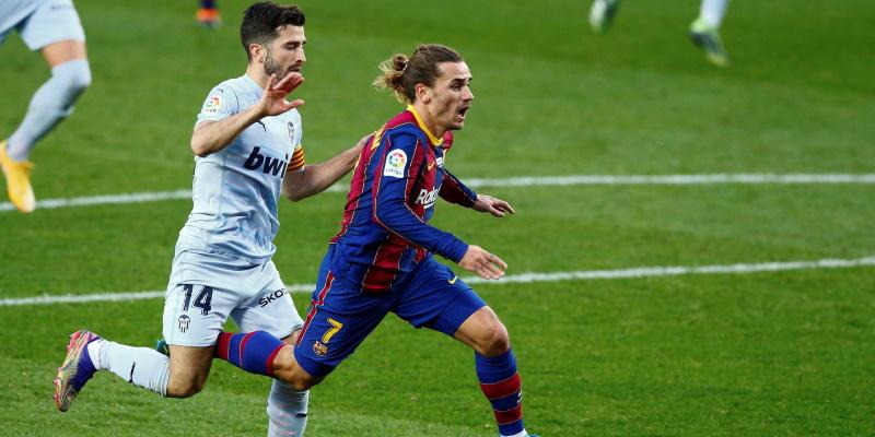 Jose Luis Gaya challenges Antoine Griezmann earlier in the season