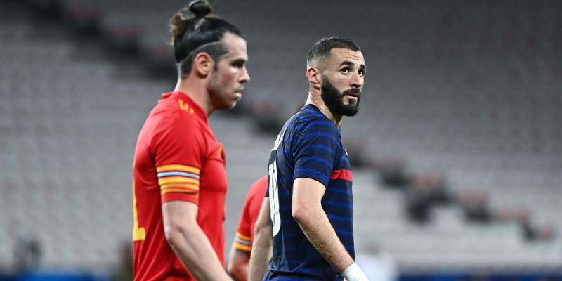 Karim Benzema and Gareth Bale in France's recent win over Wales