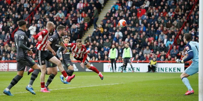 Sheffield United captain Billy Sharp scoring against Norwich