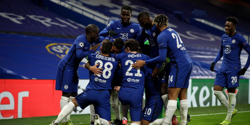 Chelsea celebrate beating Atletico Madrid in the last round of the Champions League; Spin Sports Blog