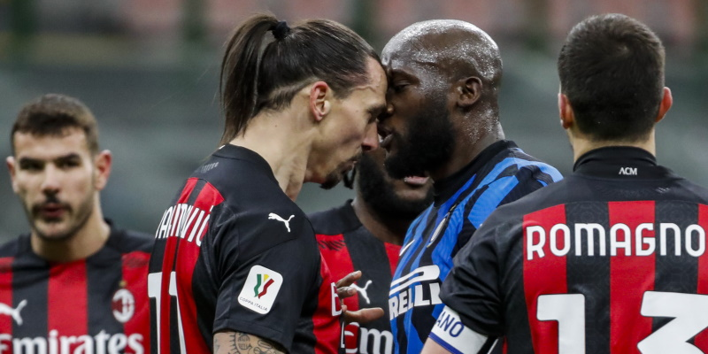 Zlatan Ibrahimovic and Romelu Lukaku face off in the last Milan derby