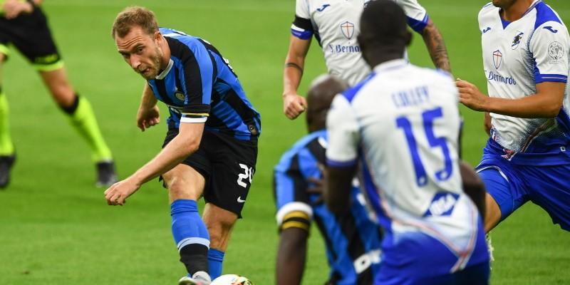 Inter midfielder Christian Eriksen in action
