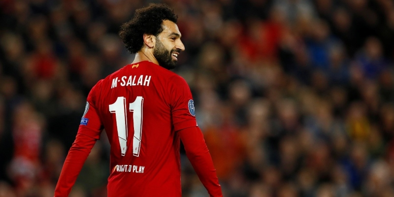 Liverpool forward Mohamed Salah; Spin Sports Blog