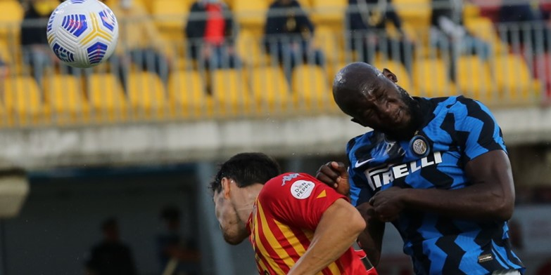 Inter striker Romelu Lukaku in action against Benevento