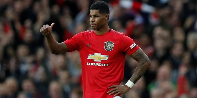 Manchester United forward Marcus Rashford; Spin Sports Blog