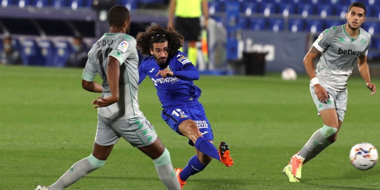 Getafe's Marc Cucurella in action against Real Betis