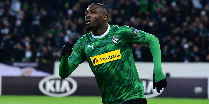Gladbach forward Marcus Thuram