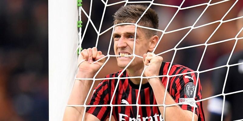 Milan striker Krzysztof Piatek; Spin Sports Blog