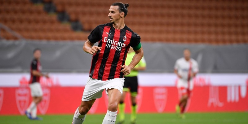 Milan striker Zlatan Ibrahimovic in a recent friendly against Monza