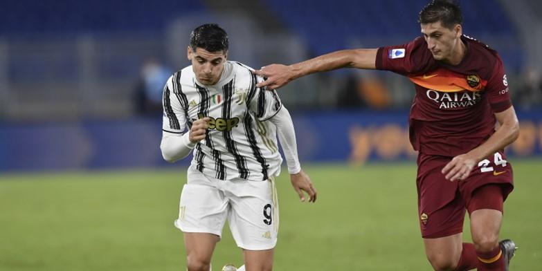 Juventus striker Alvaro Morata in action against Roma