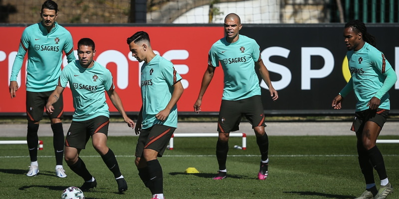 Portugal players in training ahead of Euro 2020