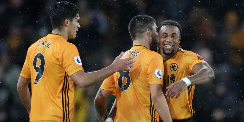 Wolves players celebrate; Spin Sports Blog