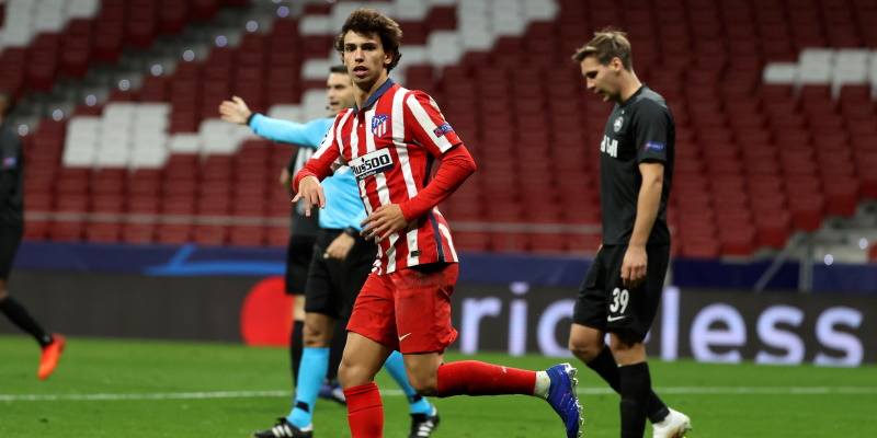 Atletico Madrid forward Joao Felix; Spin Sports Blog