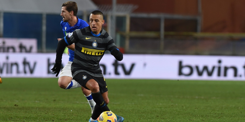 Inter forward Alexis Sanchez; Spin Sports Blog