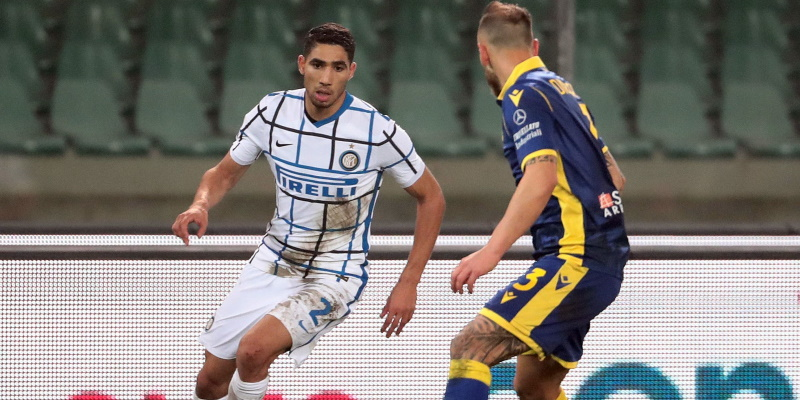 Inter wing-back Achraf Hakimi; Spin Sports Blog