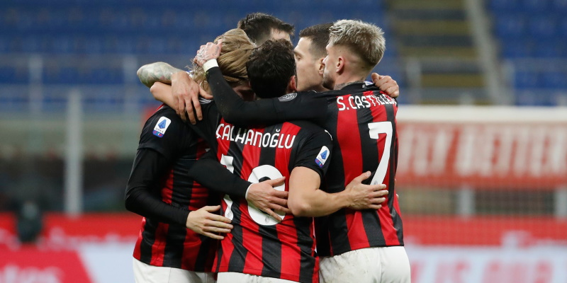 Milan players celebrate Davide Calabria's goal against Juventus; Spin Sports Blog