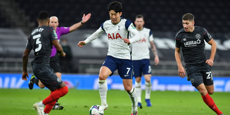Tottenham's Son Heung-min takes on Brentford in the midweek Carabao Cup fixture; Spin Sports Blog