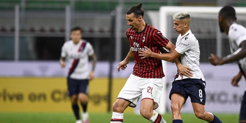 Milan's Zlatan Ibrahimovic in action