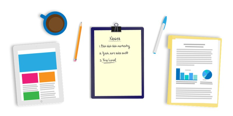 Different types of notepads