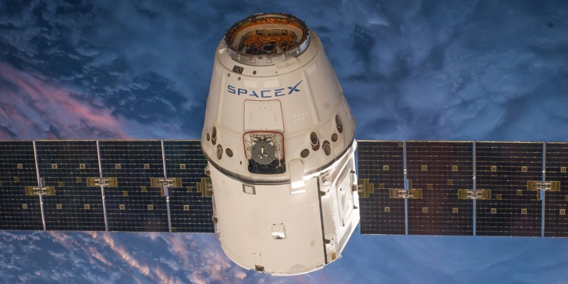 SpaceX Dragon spacecraft in orbit
