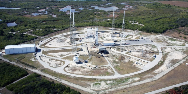 Historic launch pad at NASA's Kennedy Space Center in Florida
