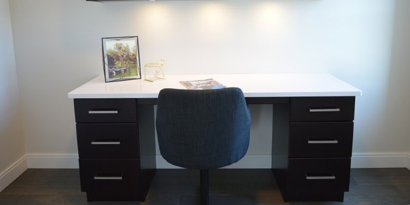 Home office desk and chair